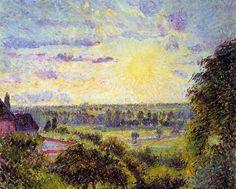 Camille Pissarro「Sunset at Eragny」