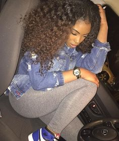 Outfit and hair Black Girl Magic, Black Girls, Black Women, Dope Fashion, Fashion Killa, Fashion Pants, Curly Hair Styles, Natural Hair Styles, Casual Outfits
