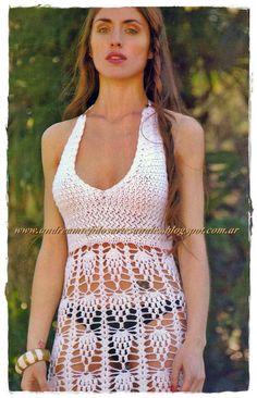 crochet vestidos de playa - Buscar con Google