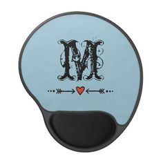 Sweethearts and Arrows Blue Monogram