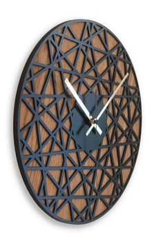"Wooden Wall Clock ""Moku Okinava"" - Home Decoration Ideas Wall Clock Wooden, Wood Clocks, Wooden Walls, Clock Wall, Big Wall Clocks, Diy Clock, Clock Decor, Diy Wall Decor, Rustic Candle Holders"