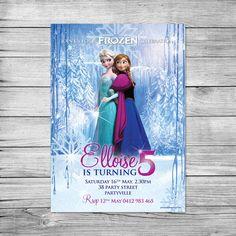 Frozen birthday party invitation / Frozen by PixelpopShop on Etsy & Walt Disney Frozen Elsa Figurine http://scrumptiouslysweet.co.uk ...