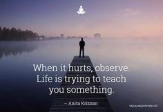 Life is always trying to teach you through every experience. @visualmeditatio | visualmeditation.co
