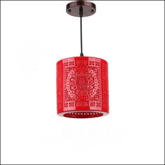 Ceramic glass Chinese red lanterns balcony aisle entrance hall aisle lamp Chinese Pendant small cylindrical Pendant Light