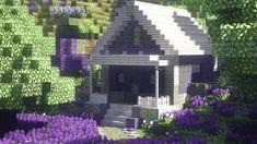 my lavender house // 💜 - Minecraft Aesthetic Minecraft Cottage House, Minecraft Cabin, Minecraft House Plans, Minecraft Mansion, Cute Minecraft Houses, Amazing Minecraft, Minecraft House Designs, Minecraft Blueprints, Minecraft Creations