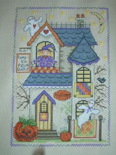 Pumpkin Patch Quilts. This was fun to stitch! Designed by Gail Bussi, I stitched this on 28 count lambswool. 2015