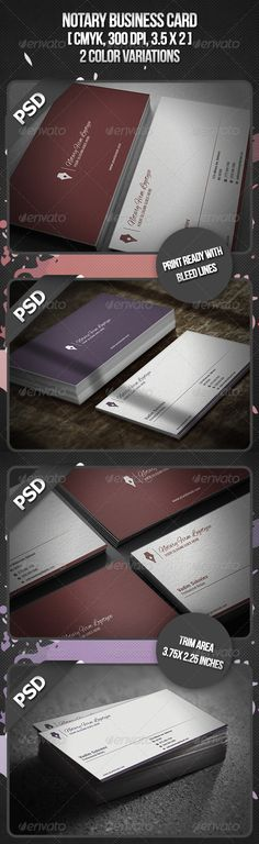 Notary Business Card — Photoshop PSD #legal #business card • Available here → https://graphicriver.net/item/notary-business-card/3179040?ref=pxcr