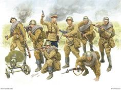 military painting wwii infantry - Bing Obrazy