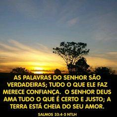 Salmos 33.4,5 NTLH