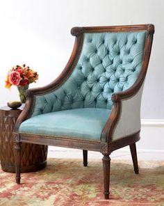 Love this blue chair!