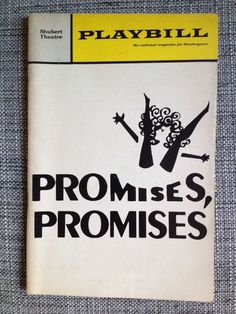 """Promises, Promises"" playbill, Original Broadway Cast Jerry Orbach & Jill O'Hara"