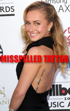 Kelly & Michael reported that Hayden Panettiere is having her misspelled tattoo removed.