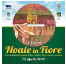 Noale in Fiore - Flower Festival, April 13, in Noale (Venezia), Piazza Castello, about 36 miles east of Vicenza.   Hundreds of firms coming from all over Italy display their flowers, plants and trees. Patio furniture and garden tools.