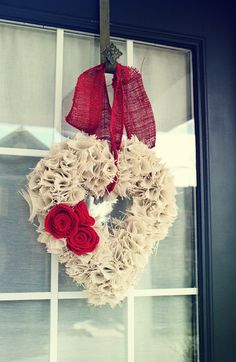 Two Bees and a Belle: Valentines Day Burlap Wreath