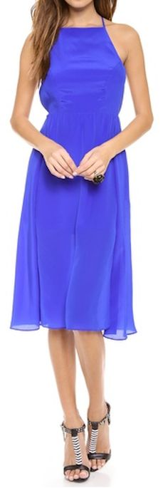 Pretty silk dress in #cobalt http://rstyle.me/n/ik2sknyg6