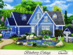Blueberry Cottage is a cute house perfect for small family built on 30x20 lot in Willow Creek. Found in TSR Category 'Sims 4 Residential Lots'