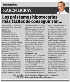 Amigos, los invito a leer mi columna en el periódico La Visión. Esta semana hablaremos de los distintos tipos de préstamos hipotecarios. Disfruten!