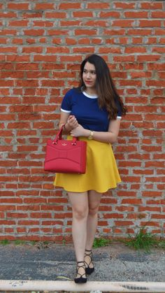 Fabulously Dressed- primary colors, a modern Snow White outfit