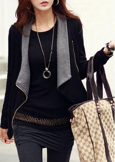 Zip Irregular Jacket