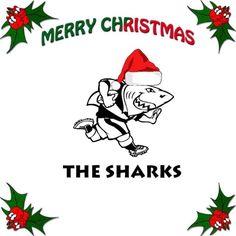 Christmas Sharky Sharks, Grinch, Rugby, Merry Christmas, Merry Little Christmas, Shark, Wish You Merry Christmas, Football
