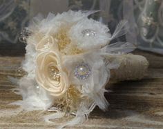 FULL PRICE GOLD Brooch Winter Bouquet by jcmArtandDesign on Etsy