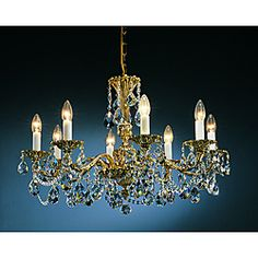@overstock Brass Antique Finish 6-light Chandelier - Update your home decor with an elegant, old world touch with this beautiful Brass Antique six-light chandelier. This light fixture features 24-percent lead crystal drops and a stunning antique brass finish.   $599.99