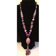 Gorgeous Purple Shades Statement Necklaces found at www.beadedcreations.co.uk