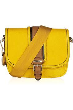 Burberry|Textured-leather crossbody bag|NET-A-PORTER.COM