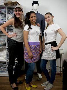 Malu Abib, Manu and Chrisna Silva at Fashion Chef store - www.fashionhchef.com.br