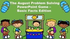 This August themed PowerPoint game helps the students practice solving three digit word problems without regrouping. Math Games, Math Activities, Classroom Games, Google Classroom, Spanish Activities, Interactive Activities, Educational Games, Classroom Resources, Summer Activities