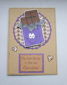 Chocolate Themed Birthday or Other Occasion by CraftyMushroomCards, £2.35