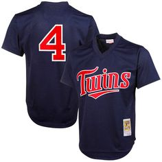 Mitchell & Ness Paul Molitor Minnesota Twins 1996 Authentic Throwback Mesh Batting Practice Jersey - Navy Blue - $79.99