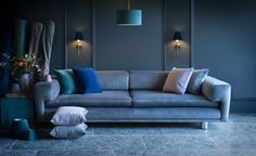 Our sumptuous new Hunstanton Velvets, available in a choice of four stylish colourways, are the perfect way of adding a touch of luxury and opulence to your home. Contemporary Design, Modern Design, New Shop, Soft Furnishings, Hue, Velvet, Traditional, Luxury, Room