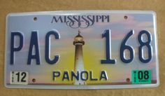 2008 Mississippi License Plate - Pac-168