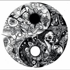 Tattoo couple mandala yin yang 32 ideas for 2019 Ying Yang, Arte Yin Yang, Yin Yang Art, Yin Yang Wolf, Yin Yang Tattoos, Body Art Tattoos, Tattoo Drawings, Yin Yang Designs, Dark Tattoo