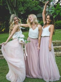 Two Piece Bridesmaid Dresse...