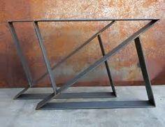 Image result for dining table metal leg design
