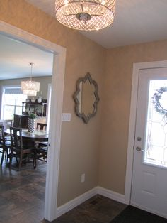 Foyer between house and garage, the basement access is here also.  Love this, keeps all the tracking out of the house.