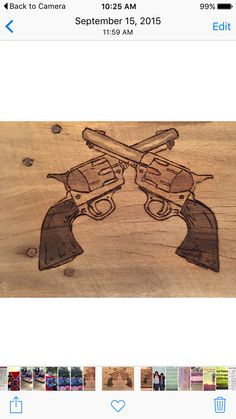 """Guns"" Pyrography -Wood Burning by Alice Holcomb"