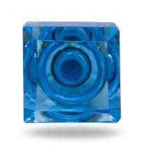 Square Glass Small Knob Silvana