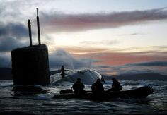 Royal Navy Submarine HMS Talent Conducts Surfacing Drills in Scotland by Defence Images, via Flickr