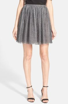 RED+Valentino+'Gonna'+Print+Tulle+Overlay+Skirt+available+at+#Nordstrom