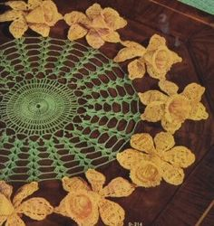 Vintage Crochet Daffodil Doilie Pattern PDF Instant by dianeh5091, $3.99