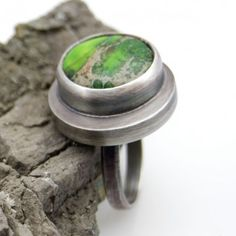 Pawie pióra pierścionek ze srebra www.KuferArt.pl
