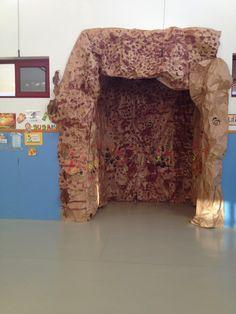 Hacemos una cueva prehisórica en clase