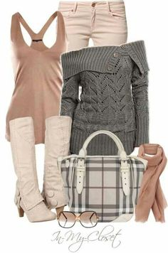 Super cute winter outfit... Love the natural colors