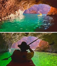 Emerald Cave in the Grand Canyon, is a true hidden treasure. The name was dubbed by photographer, Kerrick James. Learn more about his gorgeous nature photography in this video