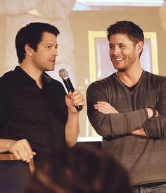 Misha Collins and Jensen Ackles