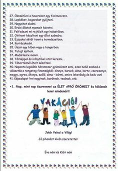 Vakáció Projects To Try, Challenges, Classroom, Organization, Teaching, Education, Fun, Kids, Mint