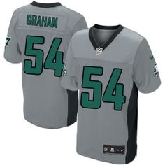 ec803e82e99 NFL Philadelphia Eagles #54 Brandon Graham Elite Grey Shadow Men Jersey